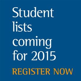 Student Lists - Register now